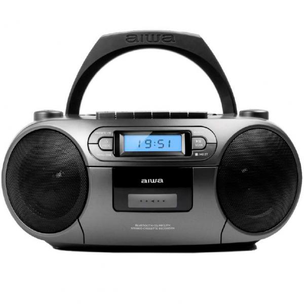 RADIO CD CASETTE PLATA BLUETOOTH AIWA