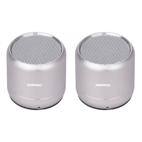 ALTAVOZ BLUETOOTH 5W. DOBLE PLATEADO DAE