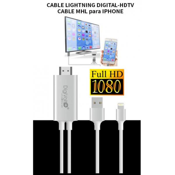 CABLE LIGHTNING DIGITAL-HDTV MHL IPHONE
