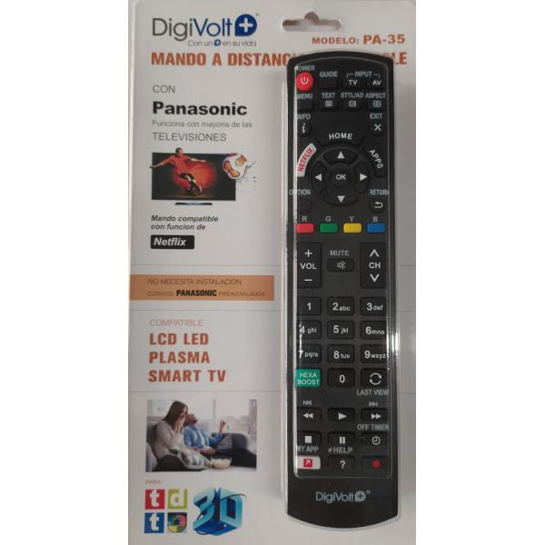 MANDO TV SUSTITUTO PANASONIC DIGIVOLT