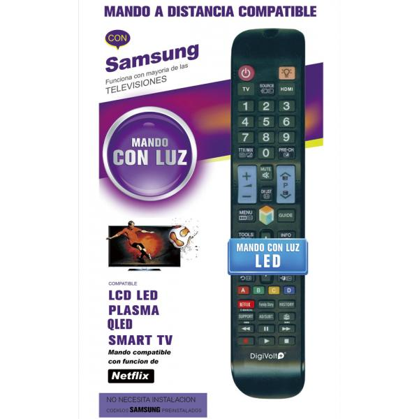 MANDO TV SUSTITUTO SAMSUNG GRANDE LED