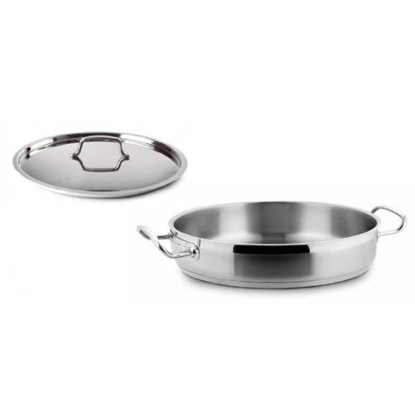 PAELLERA + TAPA INOX ECO CHEF LACOR