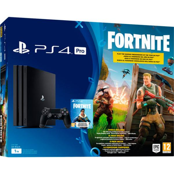 CONSOLA PS4 PRO + FORTNITE VCH