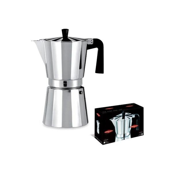 CAFETERA ITALIANA ALUMINIO NEW VITRO OROLEY