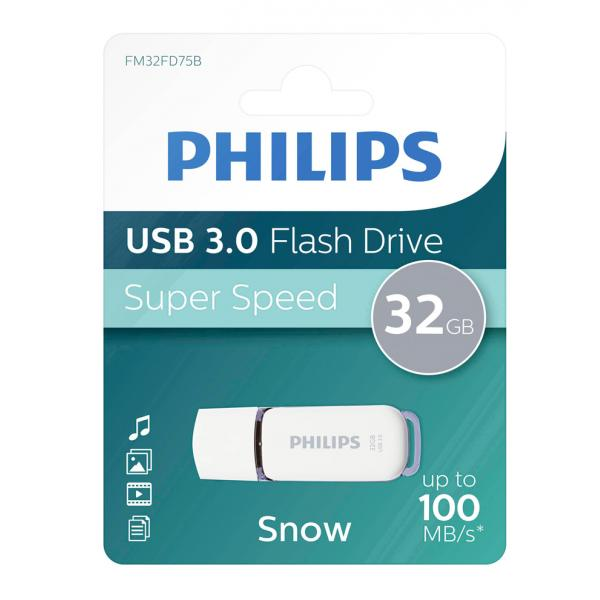 PENDRIVE USB PHILIPS 32GB GRIS 3.0