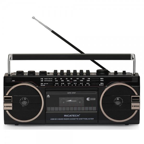 RADIO CASSETTE RETRO XBASS RICATECH