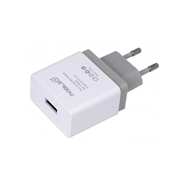 ADAPTADOR CASA USB 2.1AMP MOBILE +